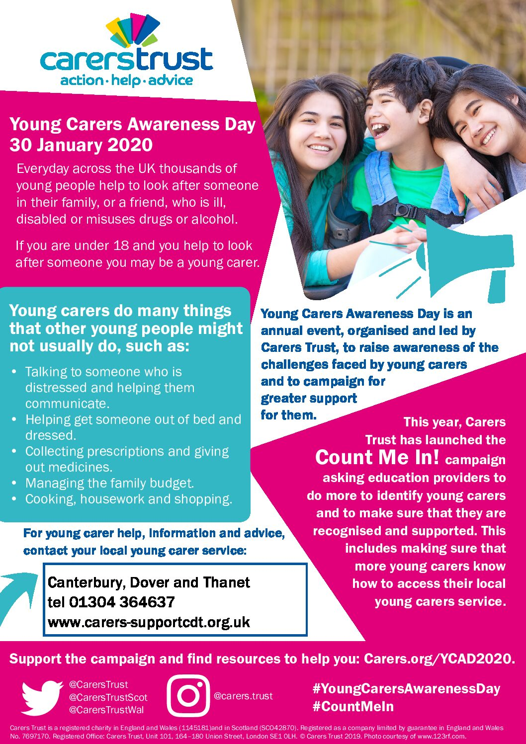 Image result for young carers awareness day 2020 poster
